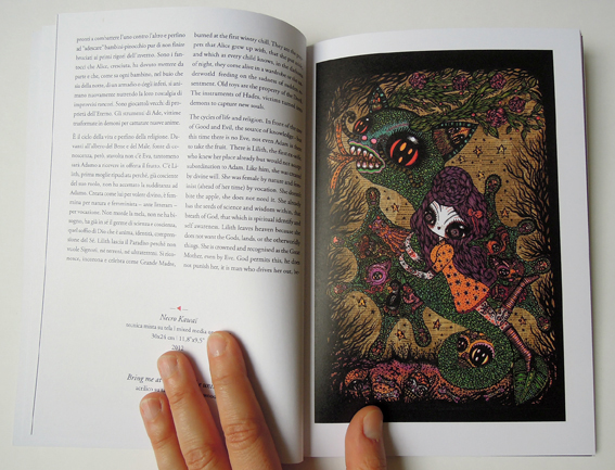Ciou Necro Kawaï catalogue of the exhibition, Mondo bizzarro gallery, Roma Italy