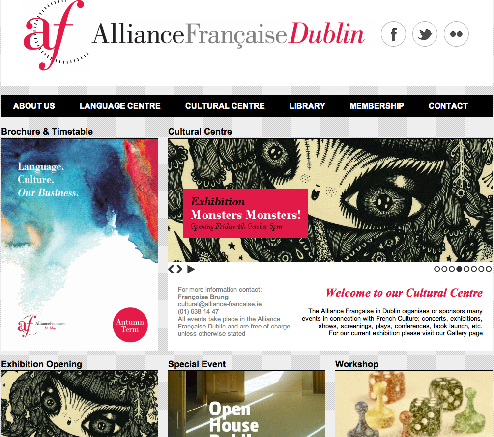 Alliance Francaise Dublin, Advertising for the Duo show with MAlojo