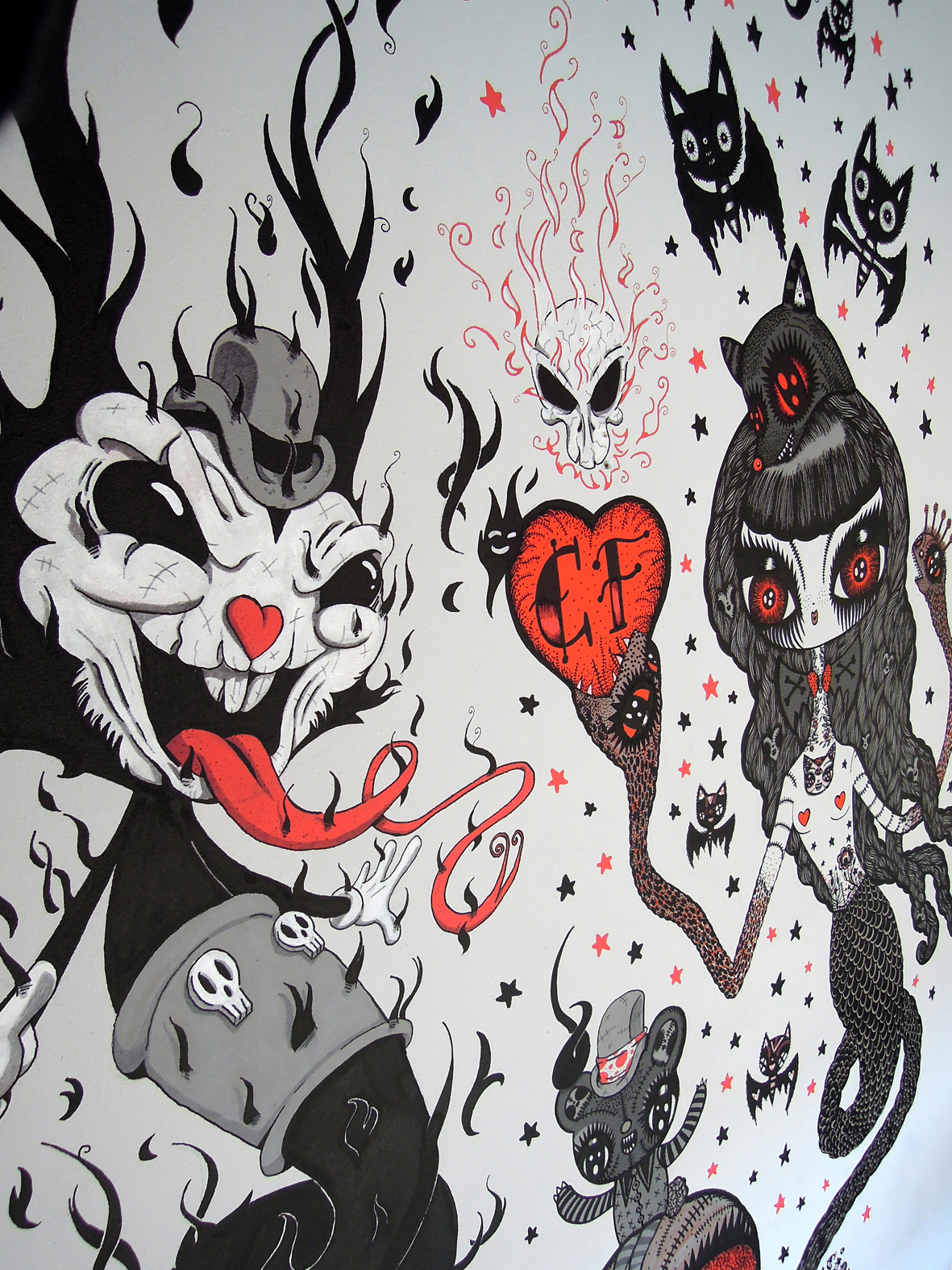 Duo art show with Malojo, at cindy Frey gallery, Courtrai, Belgium
