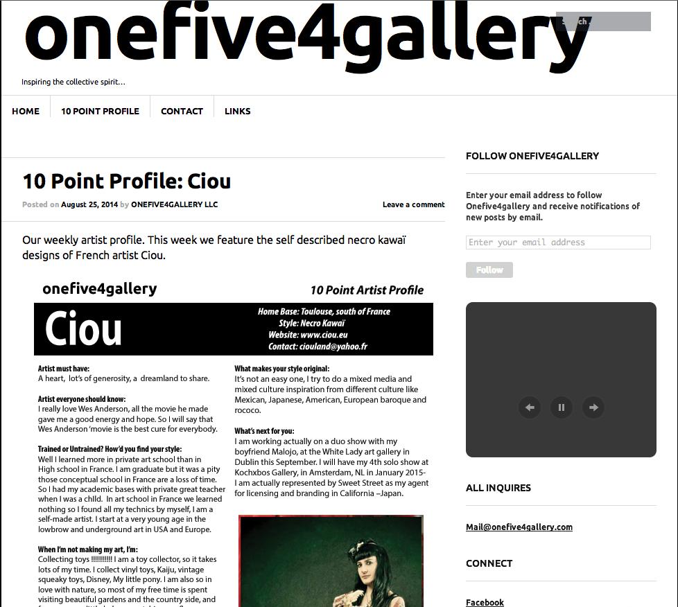 Onefive4gallery, webzine, Brooklyn usa